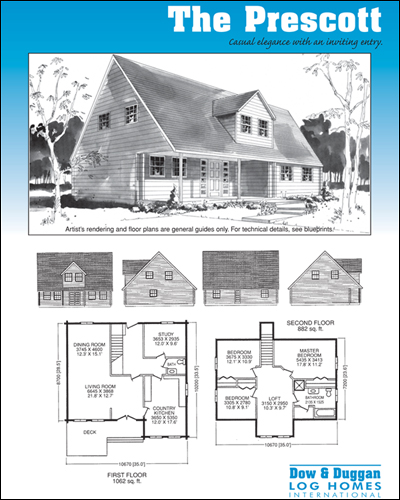 Dow & Duggan Log Homes Prescott Plan